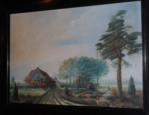 One of the Höfen of Falkenreck (Painting 200 years old)