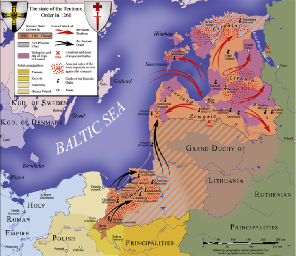 The Teutonic Order in 1260